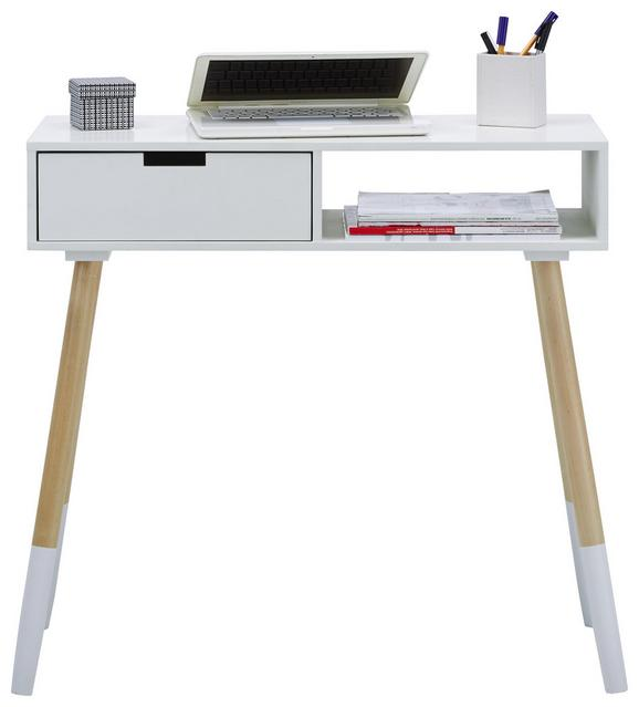 Pisalna Miza Vince - bela/breza, Moderno, leseni material/les (80/72/30cm) - Mömax modern living