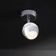 Strahler Tiffany mit LED - Chromfarben, Metall (8/15,2cm) - Bessagi Home
