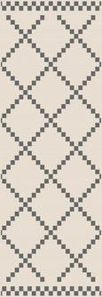 Flachwebeteppich Edgar Creme 80x200cm - Silberfarben/Creme, MODERN, Textil (80/200cm) - Modern Living