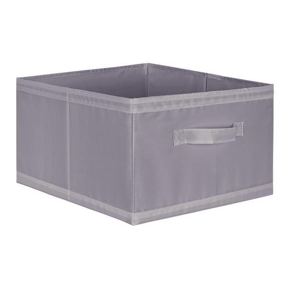 Aufbewahrungsbox in Grau - Grau, Textil (31/20/33,5cm) - Mömax modern living