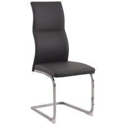 Nihajni Stol Wave - siva/krom, Moderno, kovina/tekstil (42,5/103/56,5cm) - Modern Living