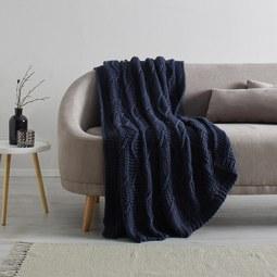 Kuscheldecke Saskia ca. 130x180 cm - Blau, Textil (130/180cm) - Mömax modern living