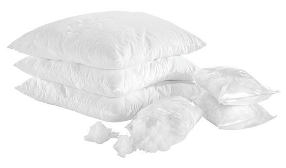 Mikrofaserkissen Nici in Weiß, ca. 70x90cm - Weiß, Textil (70/90cm) - Nadana