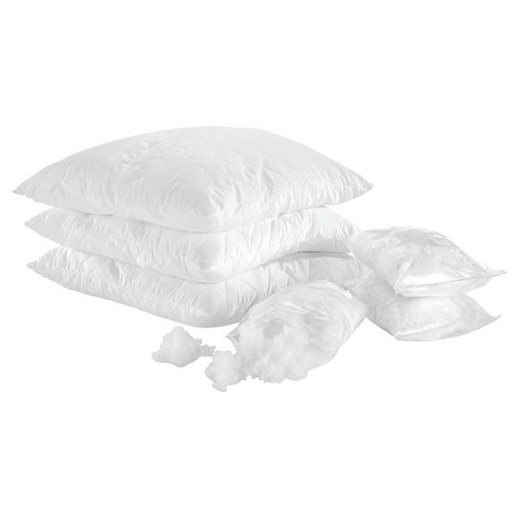MIKROFASERKISSEN Nici Weiß ca. 70x90cm - Weiß, Textil (70/90cm) - Nadana