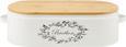 Brotbox Lore in Weiß aus Echtholz - Naturfarben/Weiß, ROMANTIK / LANDHAUS, Holz/Metall (43,5/20,5/13cm) - Zandiara