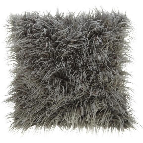 Kissen in Hellgrau 'Svea'  ca. 45x45cm - Hellgrau, Textil (45/45cm) - Bessagi Home