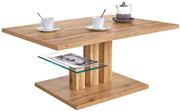 Klubska Miza Bergamo - hrast, Moderno, steklo/leseni material (110/44/70cm) - Mömax modern living
