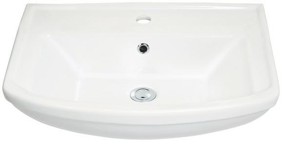 Waschbecken Weiß ca. 60cm - Weiß, Keramik (61/18/48,5cm) - Mömax modern living