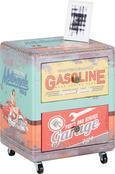 Rollcontainer in Bunt - Multicolor/Schwarz, Leder/Holzwerkstoff (40/48/34cm) - Mömax modern living