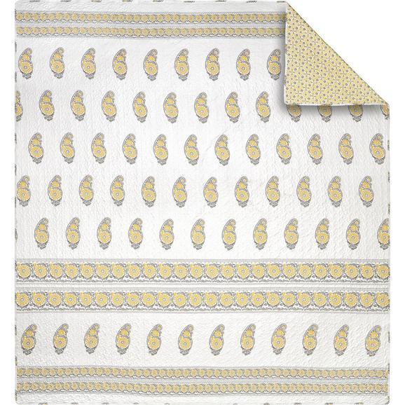 Ágytakaró Anny - Sárga/Fehér, Textil (240/260cm) - Mömax modern living