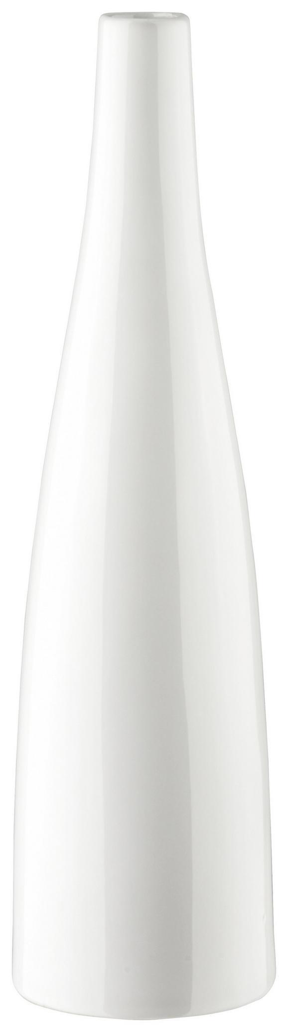 Vase Plancio in Weiß aus Keramik - Weiß, MODERN, Keramik (39.6cm) - MÖMAX modern living