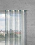 Nitasta Zavesa String - zeleni žad/bela, tekstil (90/245cm) - Premium Living