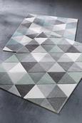Webteppich Rom Blau/Grau 160x230cm - Blau/Grau, Textil (160/230cm) - Mömax modern living