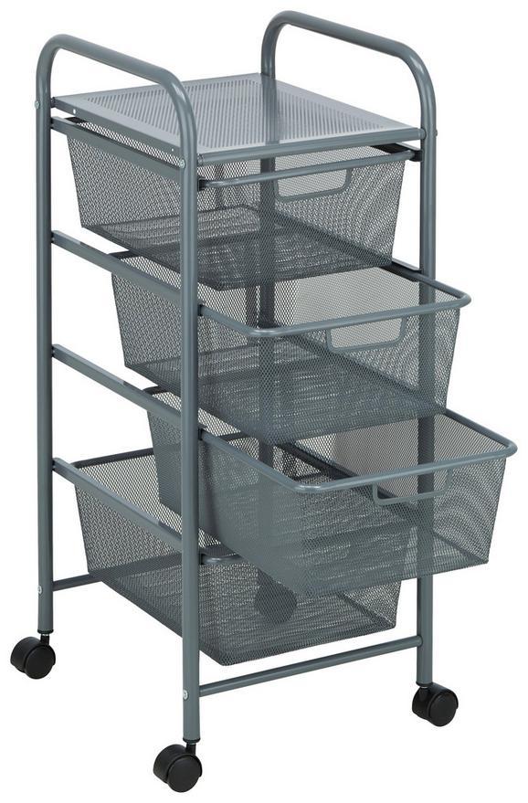Predalnik Na Kolescih Silas - siva/črna, Moderno, kovina/umetna masa (33/79/39cm) - Mömax modern living