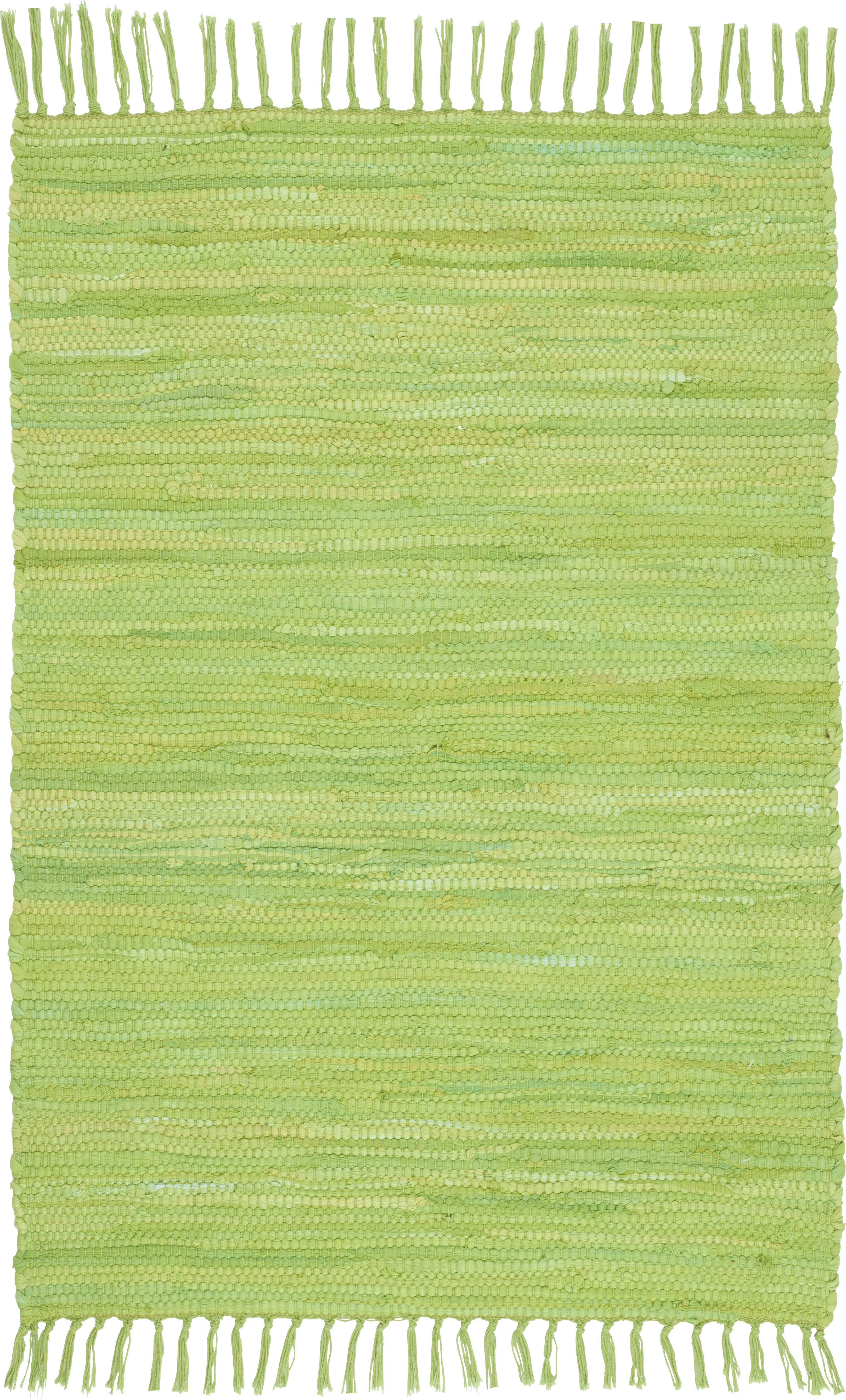 Fleckerlteppich Julia - Hellgrün, KONVENTIONELL, Textil (60/90cm) - MÖMAX modern living