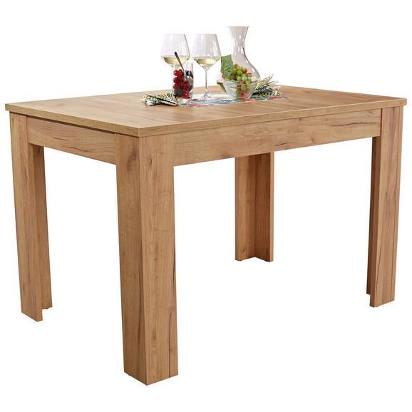 Masă Extensibilă Dinner - culoare lemn stejar, Konventionell, compozit lemnos (120/76/80cm)