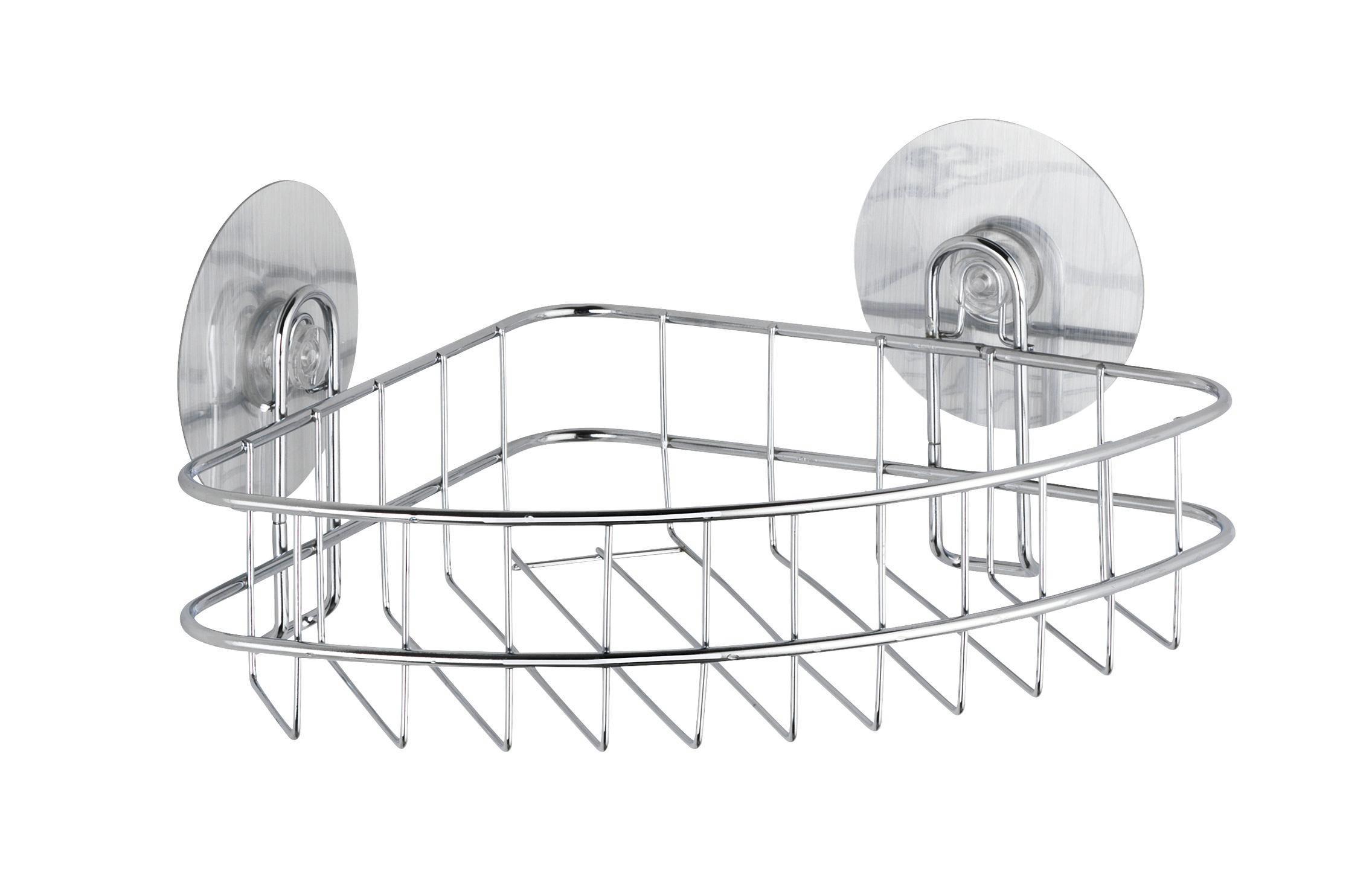 Duschregal aus Stahl - MODERN, Metall (26,5/11,5/19cm) - MÖMAX modern living