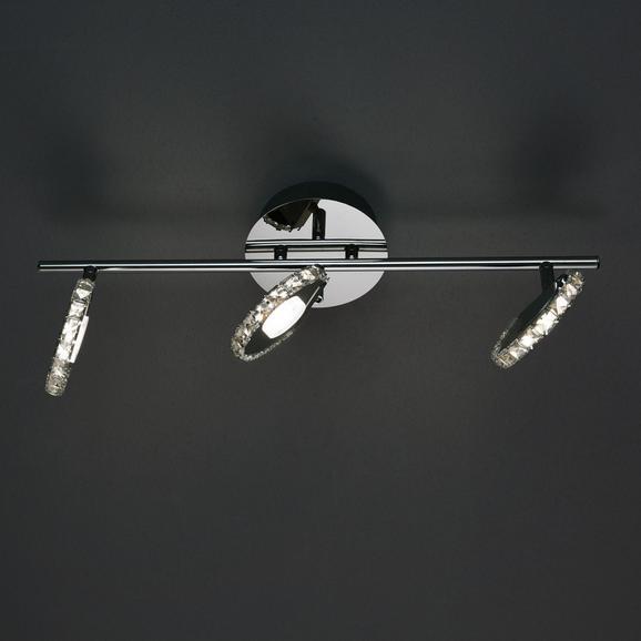 Deckenleuchte Sphere mit Led 3-flammig - Chromfarben, MODERN, Glas/Metall (54/15/19cm) - Mömax modern living