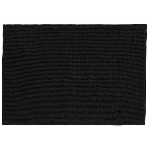 Badematte Nelly Schwarz ca. 60x90cm - Schwarz, Textil (60/90cm) - Mömax modern living