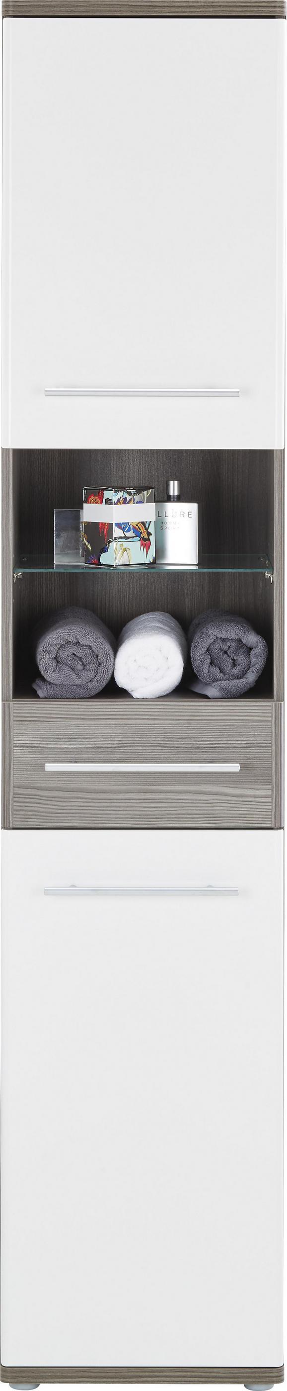 Visoka Omara Santorin - aluminij/črna, Konvencionalno, kovina/umetna masa (40/195/35cm) - Premium Living