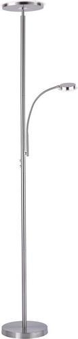 Stoječa Led-svetilka Hans - nikelj, Konvencionalno, kovina (30/30/181cm)