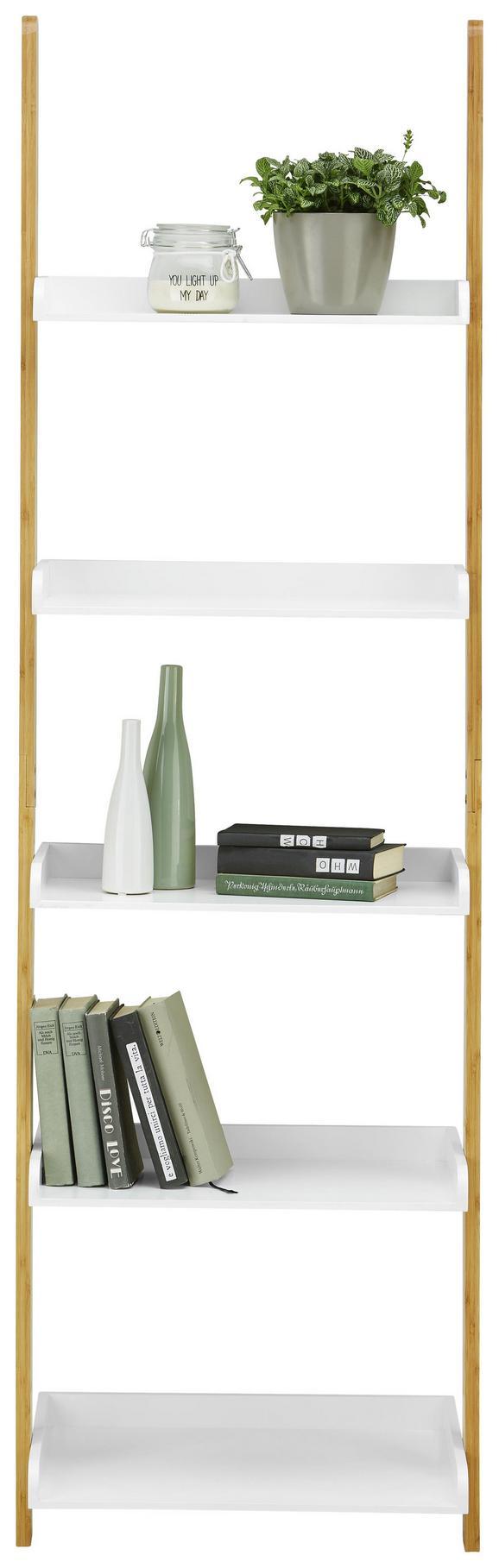 Regal Weiß/Naturfarben - Naturfarben/Weiß, MODERN, Holz (55/178/35cm) - Modern Living