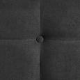 Bett inkl. TTFK-Matratze ca 180x200cm 'Gallardo' Grau - Anthrazit/Weiß, MODERN, Holz/Textil (186/100/215cm) - Bessagi Home