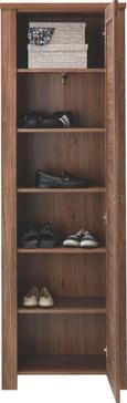 Garderobenschrank in Dunkelbraun - Nickelfarben, LIFESTYLE, Holzwerkstoff/Metall (65/200/40cm) - MÖMAX modern living