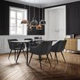 Tisch Tomi ca.180x90cm - Walnussfarben/Schwarz, MODERN, Holz/Metall (180/90/76cm) - Mömax modern living