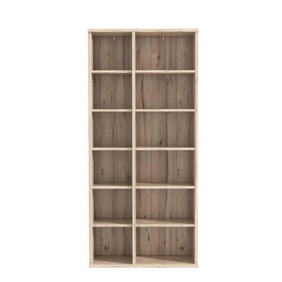 Regal Eichefarben - Eichefarben, MODERN, Holzwerkstoff/Kunststoff (100/217/40cm) - Premium Living