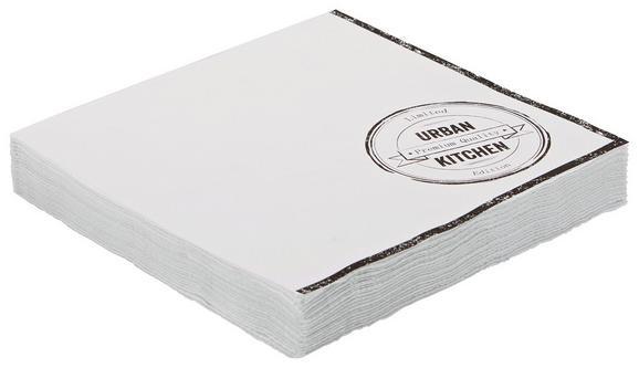 Serviette Urban aus Papier in Weiß - Weiß, MODERN, Papier (16,5/16,5/2,5cm) - MÖMAX modern living