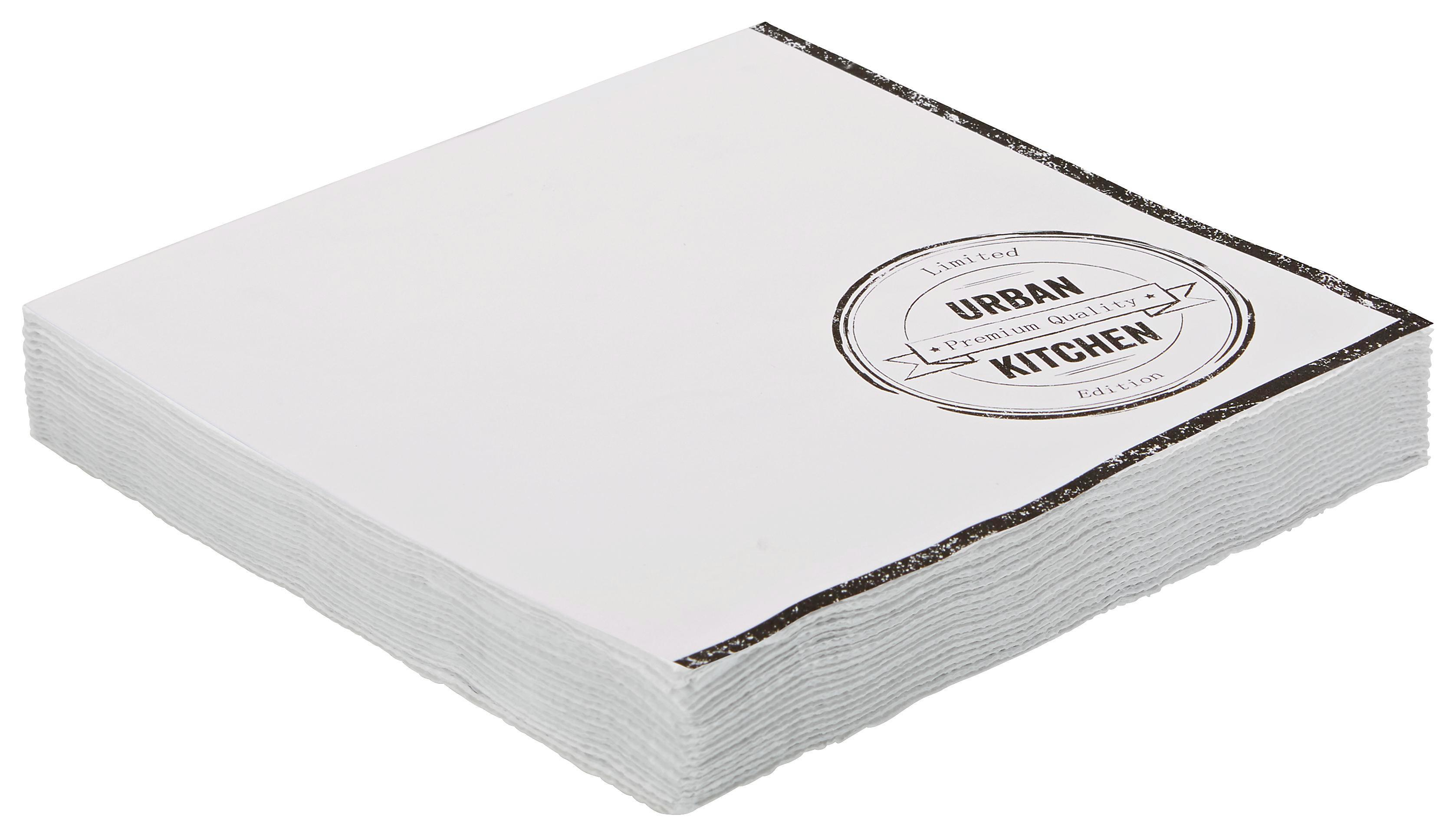 Szalvéta Urban - fehér, modern, papír (16,5/16,5/2,5cm) - MÖMAX modern living