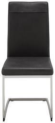 Nihajni Stol Ronja - črna/nerjaveče jeklo (58/100/43cm) - Mömax modern living