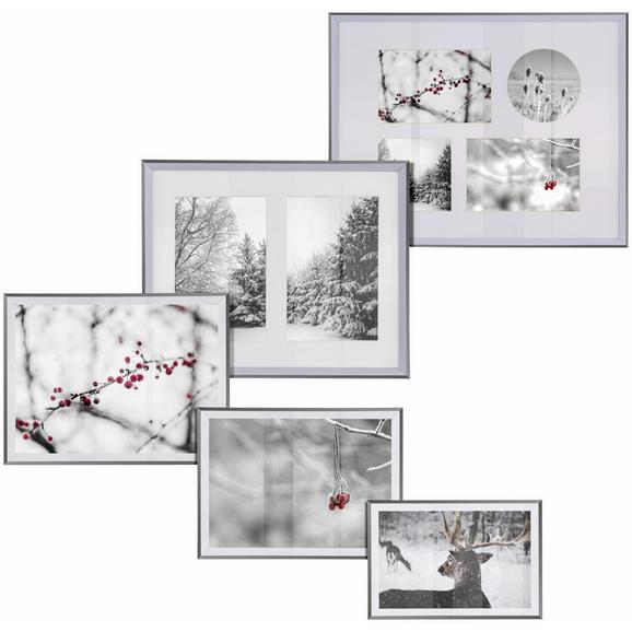 Okvir Za Slike Mara - srebrna, umetna masa (16,1/21,2/1,8cm) - Modern Living