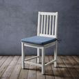 Sitzkissen Tessa Hellblau ca. 42x40cm - Hellblau, MODERN, Textil (42/4/40cm) - Modern Living