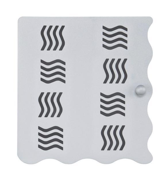 Schlüsselkasten in Alufarben - Alufarben, Metall (22/24/4,50cm) - Mömax modern living