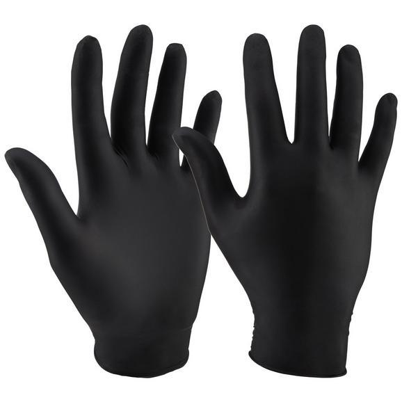 Einweghandschuh in Schwarz, 80 Stück - Schwarz, Kunststoff (20/11/6,5cm)