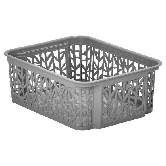 Košarica Za Shranjevanje Bamboo - siva, umetna masa (23,5/17,7/8,5cm) - Mömax modern living