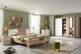 Bett Weiß/Eichefarben ca.180x200cm - Eichefarben/Weiß, KONVENTIONELL, Holzwerkstoff/Kunststoff (221/186/96cm) - Premium Living