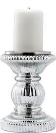 Kerzenhalter Lippa H ca. 15 cm - Silberfarben, KONVENTIONELL, Glas/Metall (11/15cm) - Mömax modern living