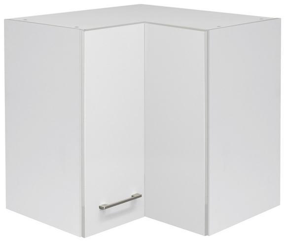 Eckoberschrank Weiß - Edelstahlfarben/Weiß, MODERN, Holzwerkstoff/Metall (60/54/60cm)