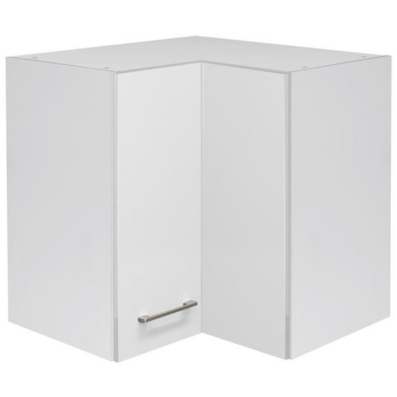 Kotna Spodnja Omarica Neo - bela/nerjaveče jeklo, Moderno, kovina/leseni material (60/54/60cm)