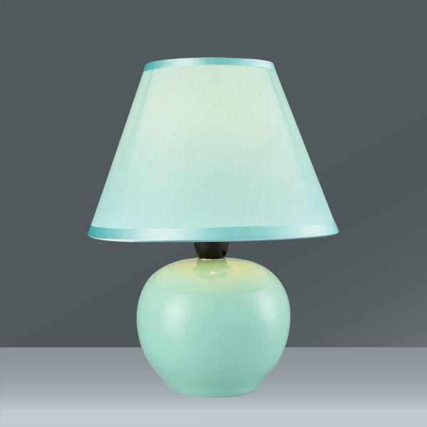 Tischleuchte Irma, max. 40 Watt - Mintgrün, ROMANTIK / LANDHAUS, Keramik/Textil (18/25cm) - MÖMAX modern living