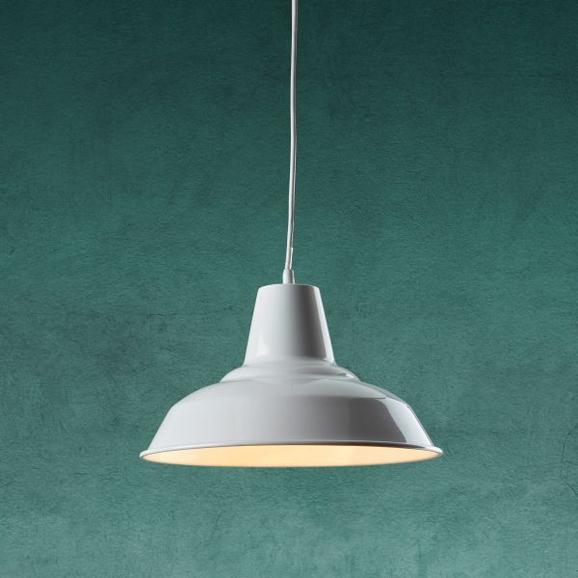 Hängeleuchte Leon - Weiß, MODERN, Metall (29/125cm) - Modern Living