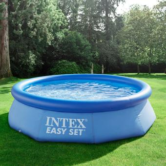 Schwimmbecken Easy Set Pool Ø 305cm - Blau, MODERN, Kunststoff (305/76cm) - MODERN LIVING