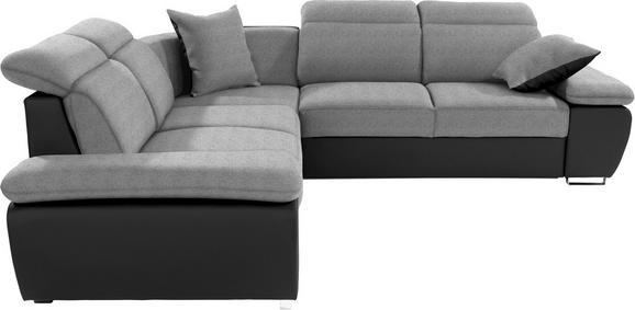 Sedežna Garnitura Logan - temno siva/črna, Moderno, kovina/tekstil (270/270cm) - Premium Living