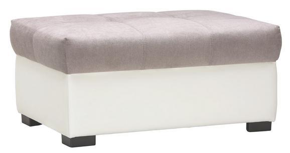 Hocker Grau/Weiß - Schwarz, KONVENTIONELL, Kunststoff/Textil (100/48/74cm) - Modern Living