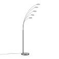 Stehleuchte Boris, max. 5x5,6 Watt - Silberfarben/Weiß, KONVENTIONELL, Glas/Kunststoff (28/179cm) - Mömax modern living