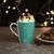 Kaffeebecher aus Porzellan 300 ml ''X-Mas'' - Türkis/Weiß, KONVENTIONELL, Keramik - Vivo