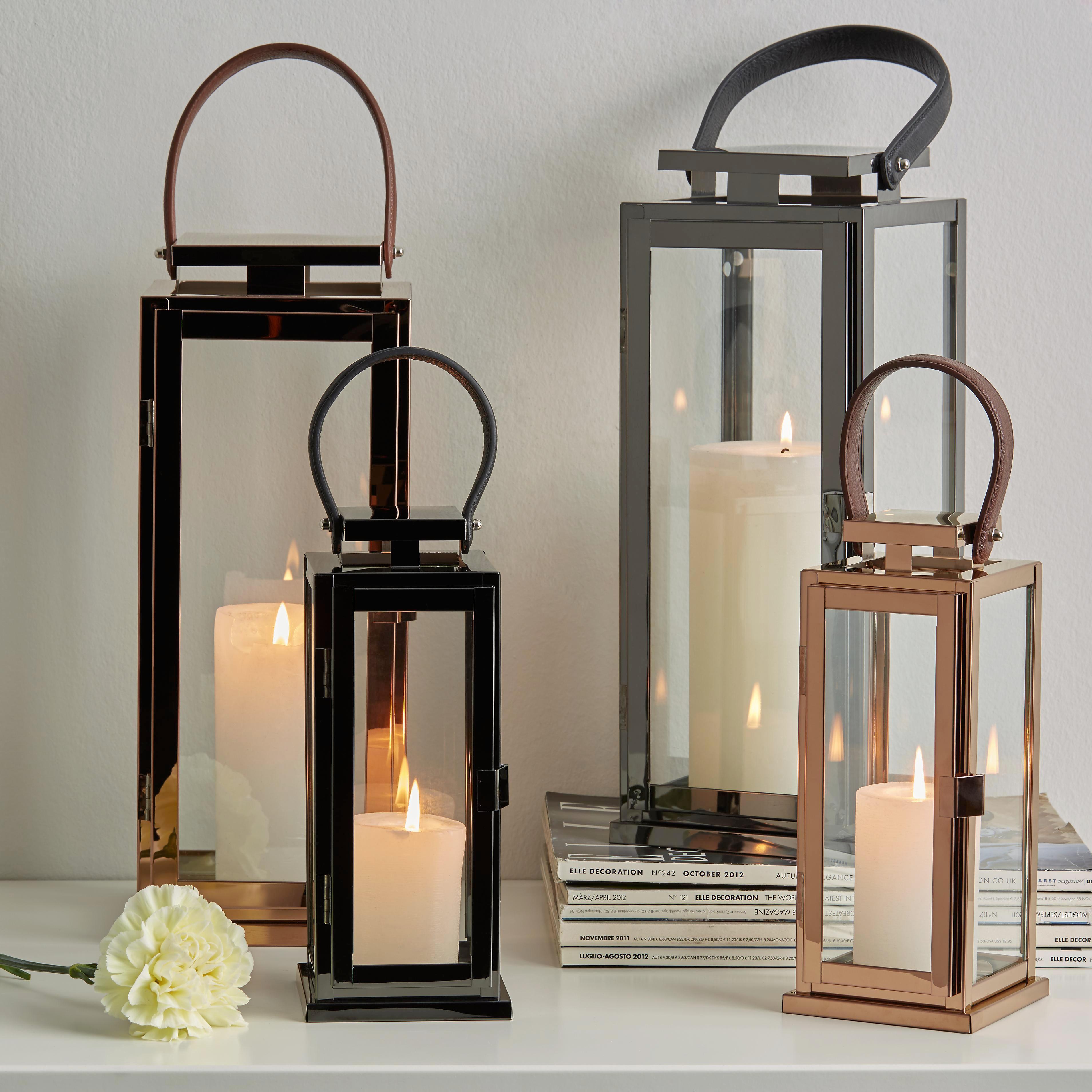Lámpás Cindy - S - fekete, modern, üveg/fém (10/10/25cm) - MÖMAX modern living